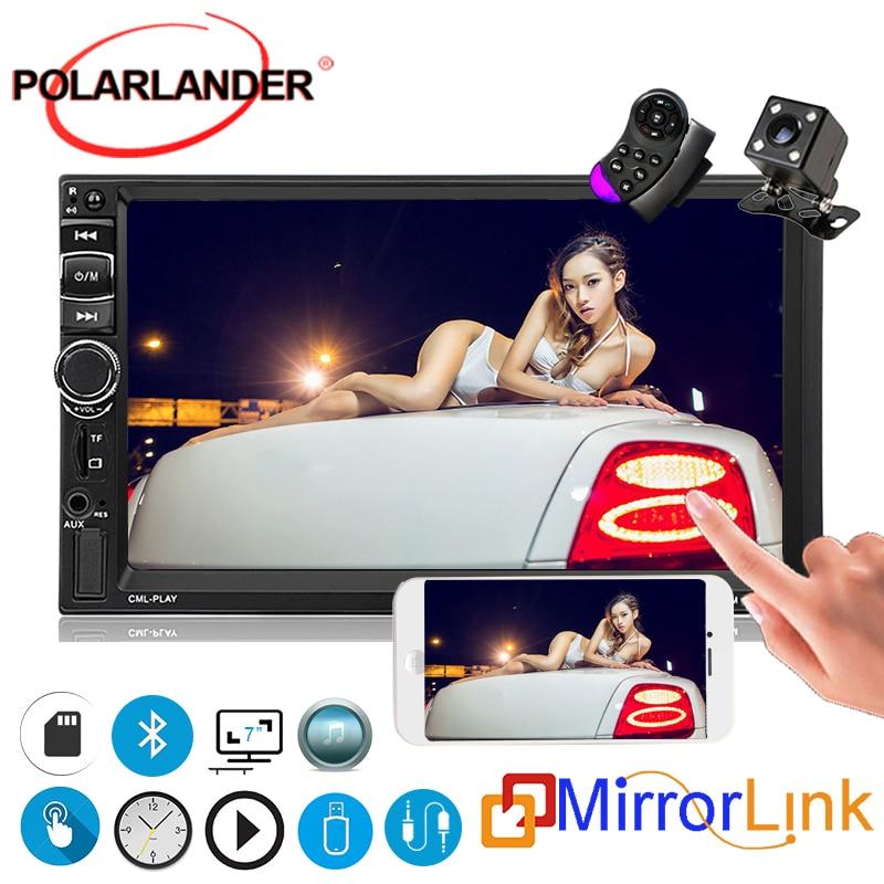 2 Din multimédia voiture moniteur autoradio FM/MP5/USB lien miroir pour Android écran tactile MP5 lecteur Bluetooth volant