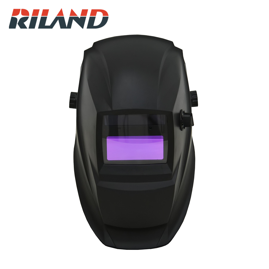 RILAND Solar Auto Darkening Welding Helmet Solar Welding Mask Arc Tig Mig For Auto Welding Masks Solder  Mask Black Color X701B no 1 for free post welder helmet fully automatic auto darkening mig tig mag arc welding helmet mask plasma cutter chrome