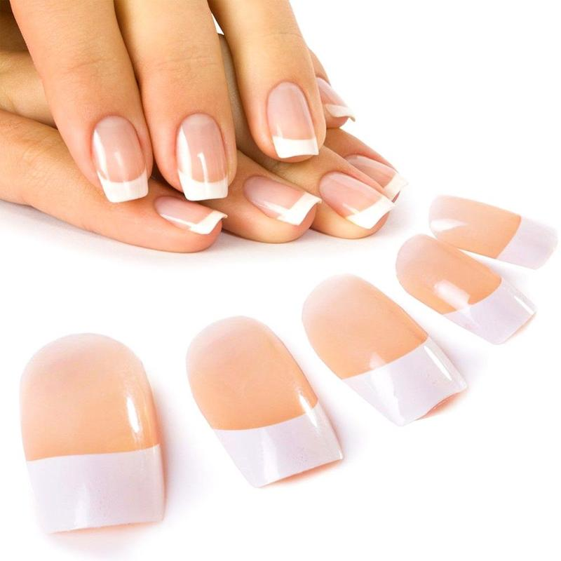 Famous Pink White Fake Nails Ornament - Nail Art Ideas - morihati.com