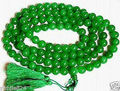 Venta caliente 108 Verde Del Grano Del Jade de Tíbet Budista Collar 8mm