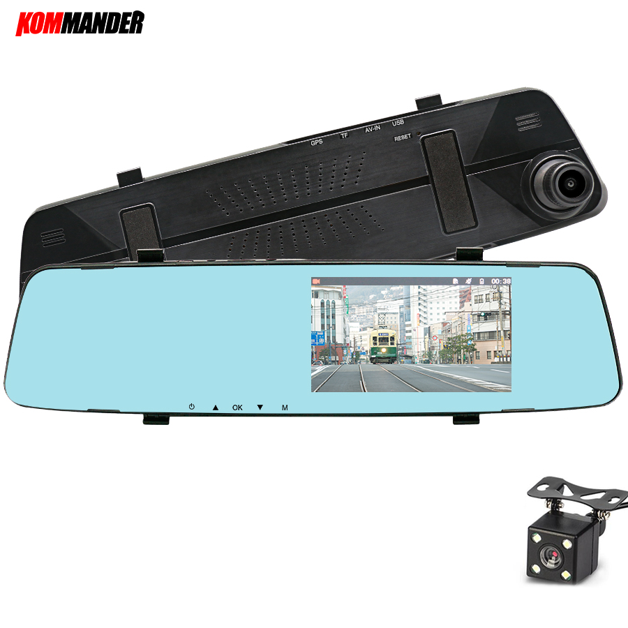 Kommander 5 Mirror  DVR for cars Camera Car DVR Night vision Full HD 1080P Dash Cam Camera,Dashcam
