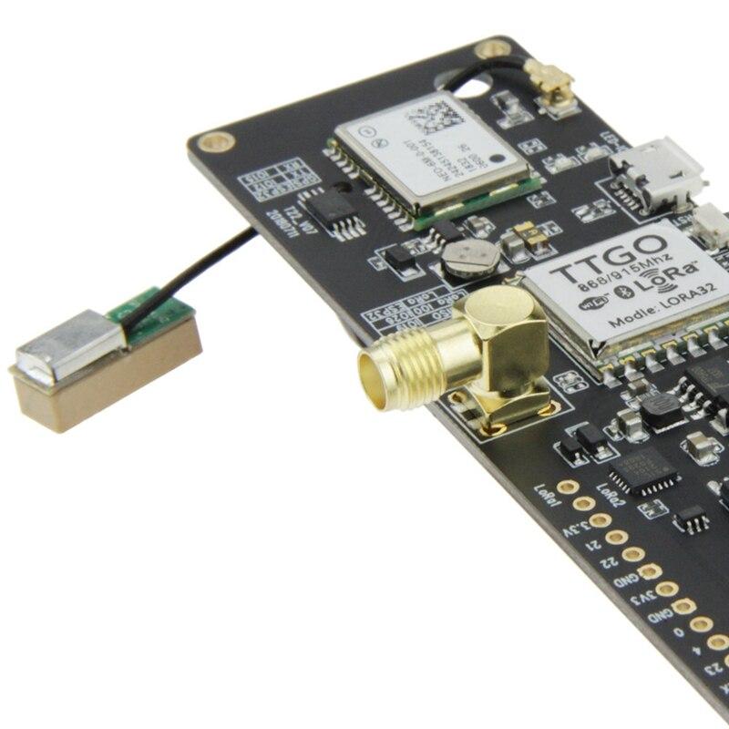 T-Beam Esp32 915Mhz Wifi Wireless Bluetooth Module Esp32 Gps Neo-6M Sma  Lora 32 18650 Battery Holder With Softrf