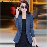 2019 New Spring Autumn Slim ladies Suit Long sleeved Casual OL Korean Suit Jacket short Blazers For Women Coat Plus Size N478