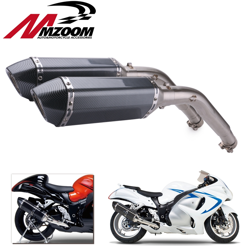 Link Pipe Exhaust-Modified-Muffler Motorcycle Hayabusa Slip-On GSXR1300 Suzuki Connector