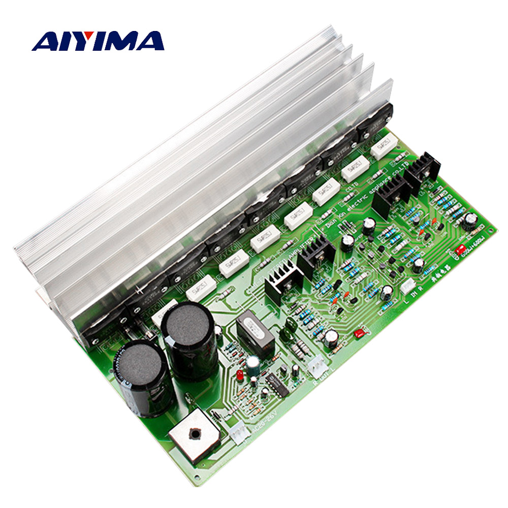 Aiyima 600W Audio Amplifier Board Amp HIFI 2.0 Stereo SanKen 1494 3858 Stage Power Amplifier High Power AC22-28V aiyima 12v tda7297 audio amplifier board amplificador class ab stereo dual channel amplifier board 15w 15w