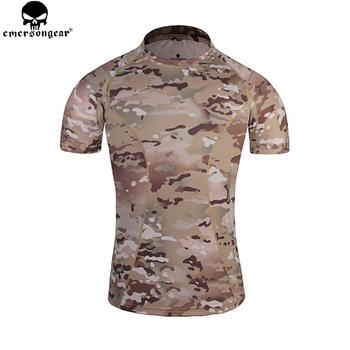 Emersongear dopasowane warstwa podstawowa koszulki do biegania Camo oddychająca koszulka z krótkim rękawem koszulka bojowa Camoflauge EM8605 #8243 tanie i dobre opinie