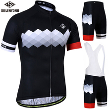 SIILENYOND Pro Cycling Clothing Cycling Set MTB Bicycle Clothes Maillot Ropa Ciclista Bike Sportswear Cycling Jerseys Set