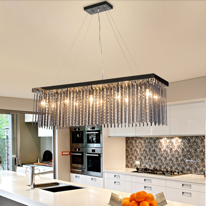 Rectangular dining room Pendant Lights European style led crystal Pendant Lights modern restaurant lamp bar Cafe creative lamps crysta lamp pendant lights lounge dining room bedroom lamp lychee simple new european style warm crystal hanging lamp