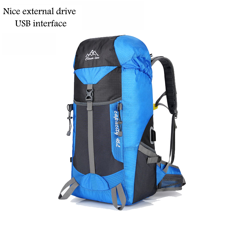 Hot Outdoor Bag Camping Hiking 45L Hiking Backpack Outdoor Backpacks Nylon Sport Bag Multi-purpose Climbing Bags 0