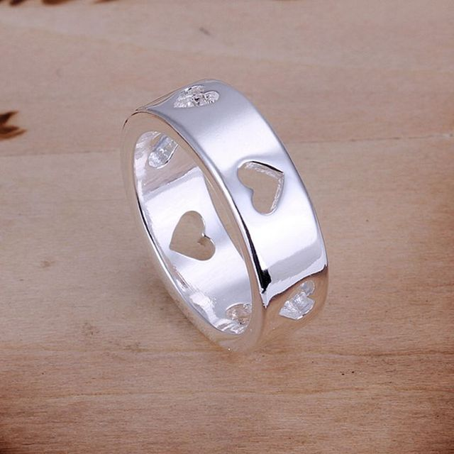 Wholesale 925 jewelry silver plated ring, silver plated fashion jewelry, Hollow