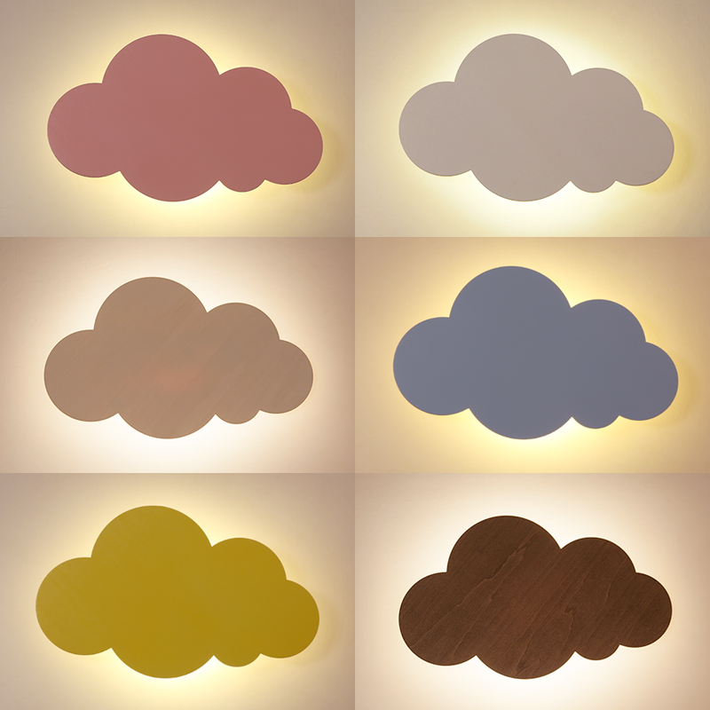Cloud LED lamp simple wall lamp color cartoon led bedroom bedside girl lovely child wall lamps pink blue wall light ZA425541 lovely plane wall lamp creative arts cartoon wall lamp the bedroom of children room lamps led night light on a bedside lamp