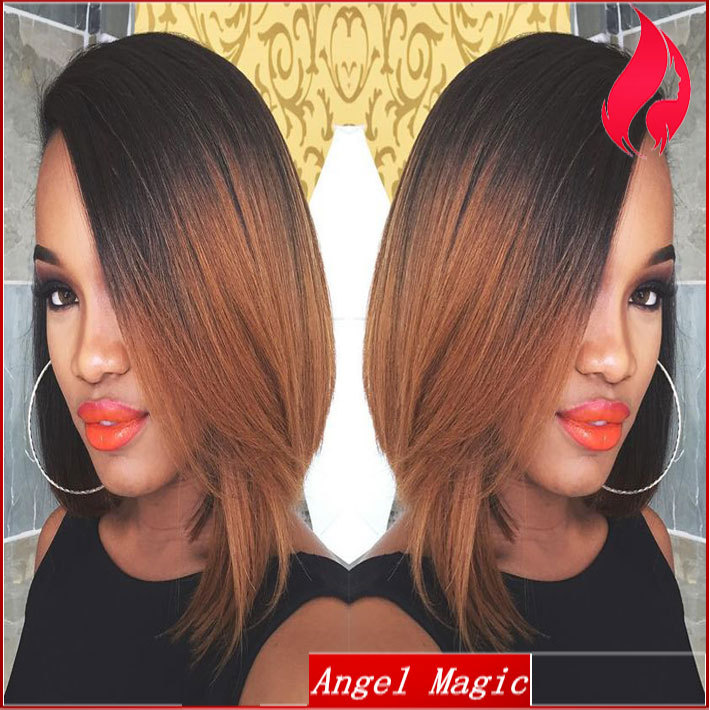 1bt30 Two Tone Wig New Short Ombre Bob Lace Front Wig