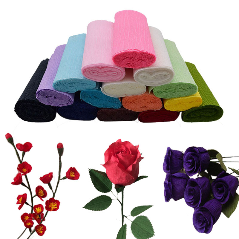 15cm width crepe paper flower wrapping material 250cmroll diy 15cm width crepe paper flower wrapping material 250cmroll diy artificial flower making paper craft wedding party decoration 8z in party diy decorations mightylinksfo