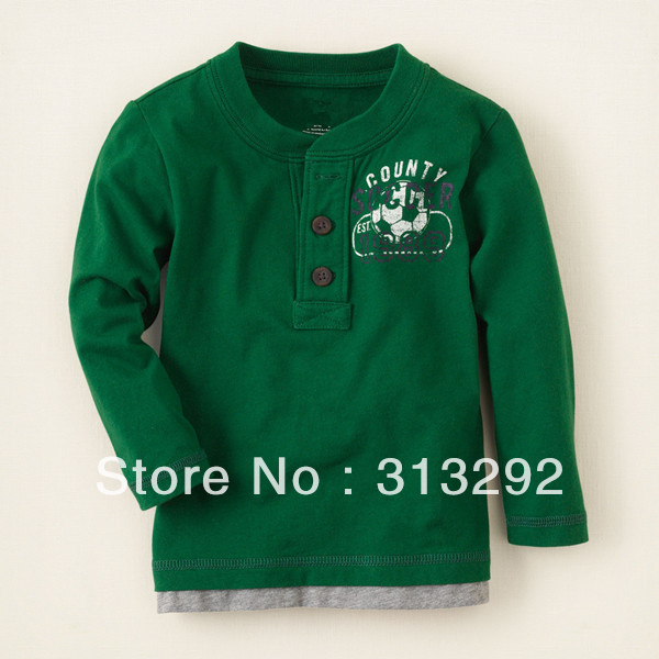 T-Shirts Football Long-Sleeve Baby Children Top Cotton for 1-6 Year. BJT144 Tees High-Quality