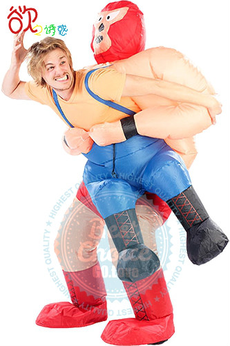 2016 New Inflatable Costume for Halloween World Championship Wrestling WCW Big Van Vader Wrestling Wrestler Im Klammergriff