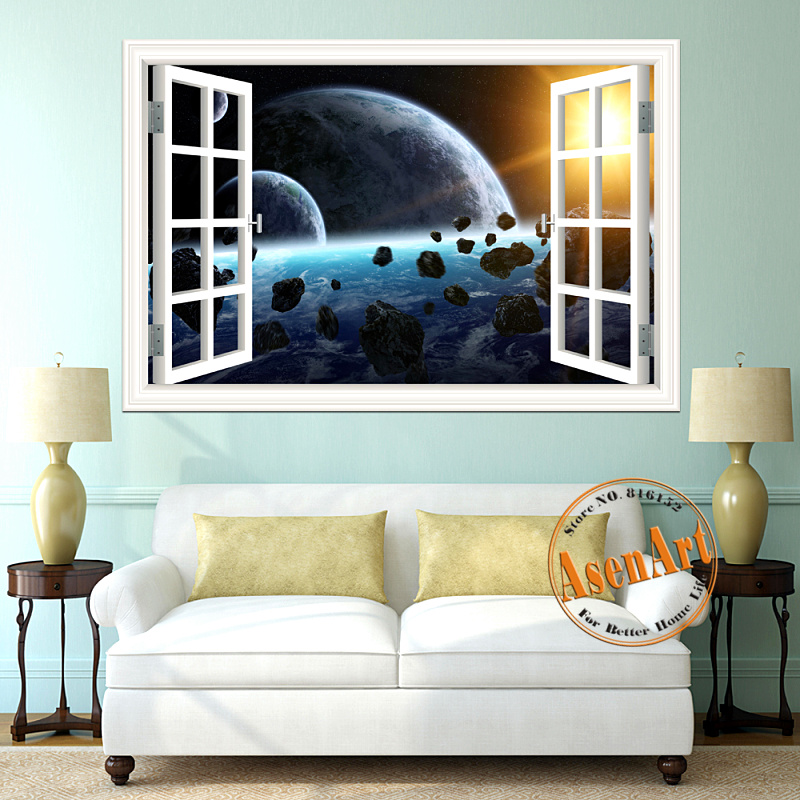 3d Galaxy Wall Sticker Outer Space Planet Stickers
