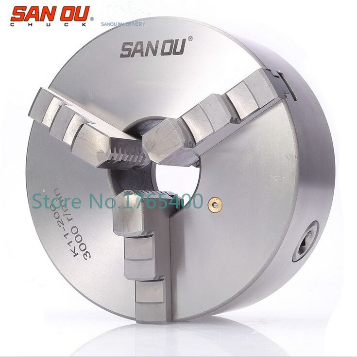 New 3 jaw lathe chuck  k11 80mm K11-80 lathe chuck machine accessories for diy lathe