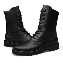Army Men Military Leather Boots Winter Men Waterproof Jungle Boots Black GI Style Combat Boot Plus Size12 13 14