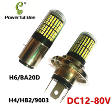 New 35W 144SMD super white LED DC12-80V motorcycle car bike headlight bulb H4/9003/HB2 H6/BA20D Hi/Lo beam headlamp