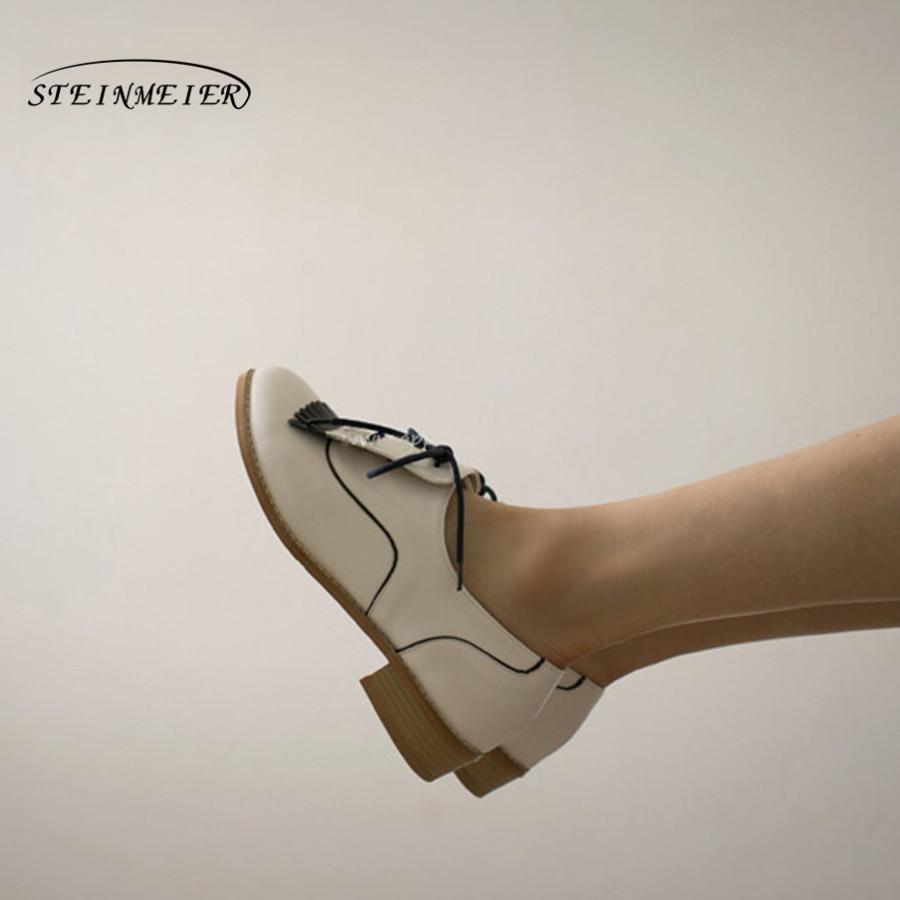 Women Genuine leather flat oxford shoes designer tassel vintage us9 handmade white black cover oxfords shoes for women imc vintage women flat shoes white us4 eur35 length 22 5cm
