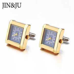 Image 4 - High Quality Functional Watch Cufflinks Square Real Clock Cuff links With Battery Digital Watch Cufflink cuffs Relojes gemelos