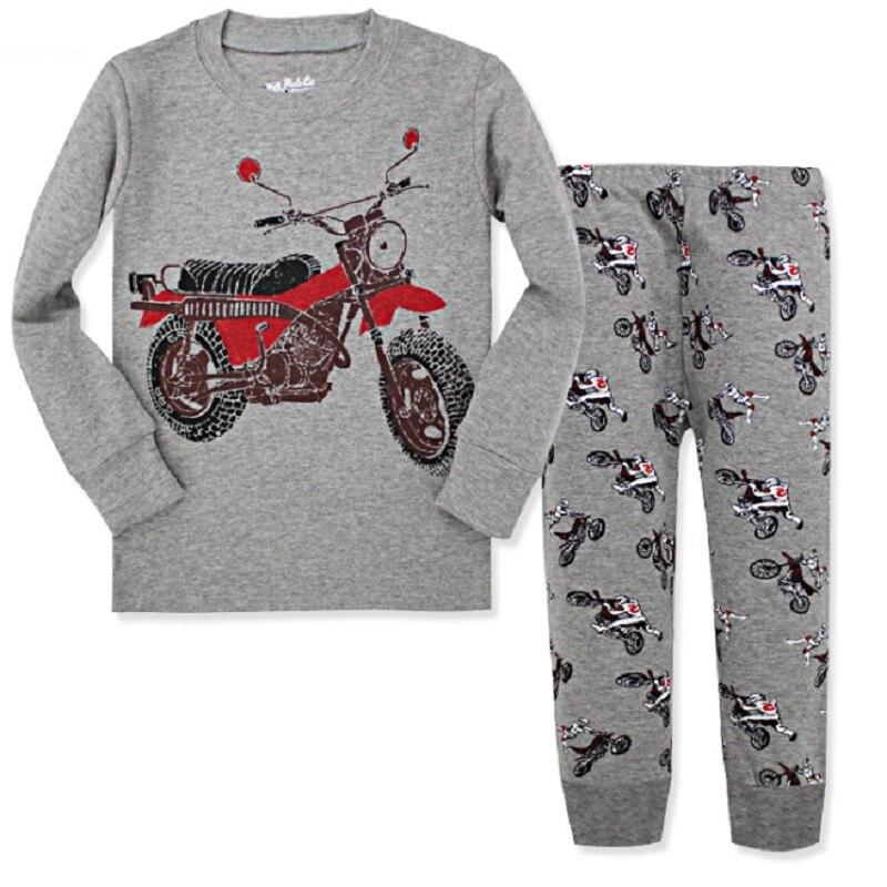 Excavator Children Pajamas Sets Kids Sleepwear suit Sleeved T-Shirts Trousers Boy clothes Pj's Infant pijama Fashion Tops Pant 2
