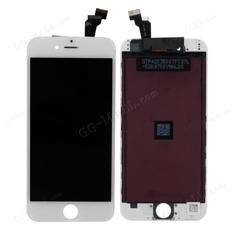 10PCS AA Repaired White LCD Display touch Screen Digitizer