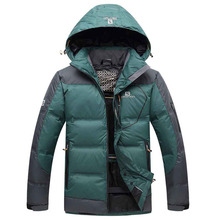 Free Shipping 2016 Contrast Color Mens Winter Jackets Men's hood Coat Winter Casual & Fit Thick Man Down Jacket Size M-3XL 260