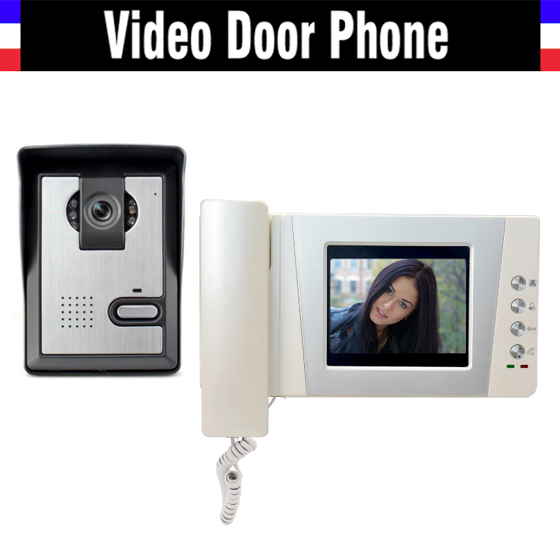 4.3 LCD monitor video door phone system video doorbell interphone kits IR Night Vision Camera video intercom for home 7 lcd monitor wired video intercom door phone doorbell door viewer ir night vision home security kits for villa home