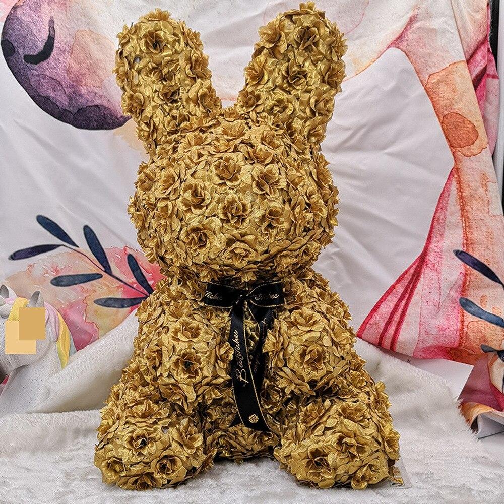 Nouveau 2018 noël PE mousse or Rose lapin saint valentin maison mariage anniversaire cadeau créatif artisanat