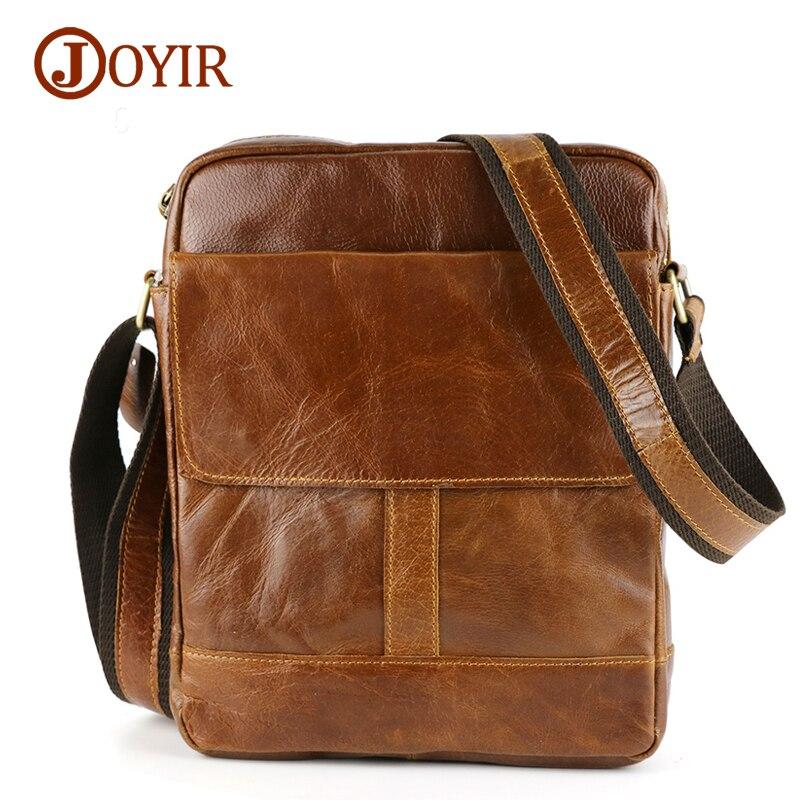 Joyir Genuine Leather Men Bag Shoulder Casual Retro Bags Men Genuine Leather Crossbody Bags For Men Messenger Bags Handbags 8708 genuine leather shoulder bag men casual