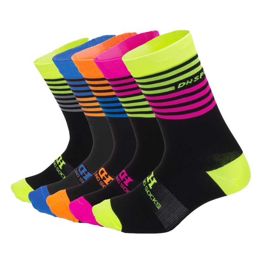 DH Sports New Professional Cycling Socks Men Women Bicycle Outdoor Bike Riding Socks Brand Climbing Running Sock EUR 38-45