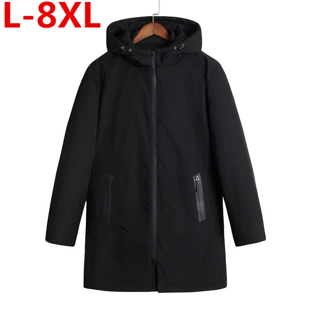 Flash Sale plus size  8XL 7XL  6XL 5XL Winter Keep Warm Coat Casual Men's Jacket Men's brand Long section Jacket Coat Cotton-padded clothes