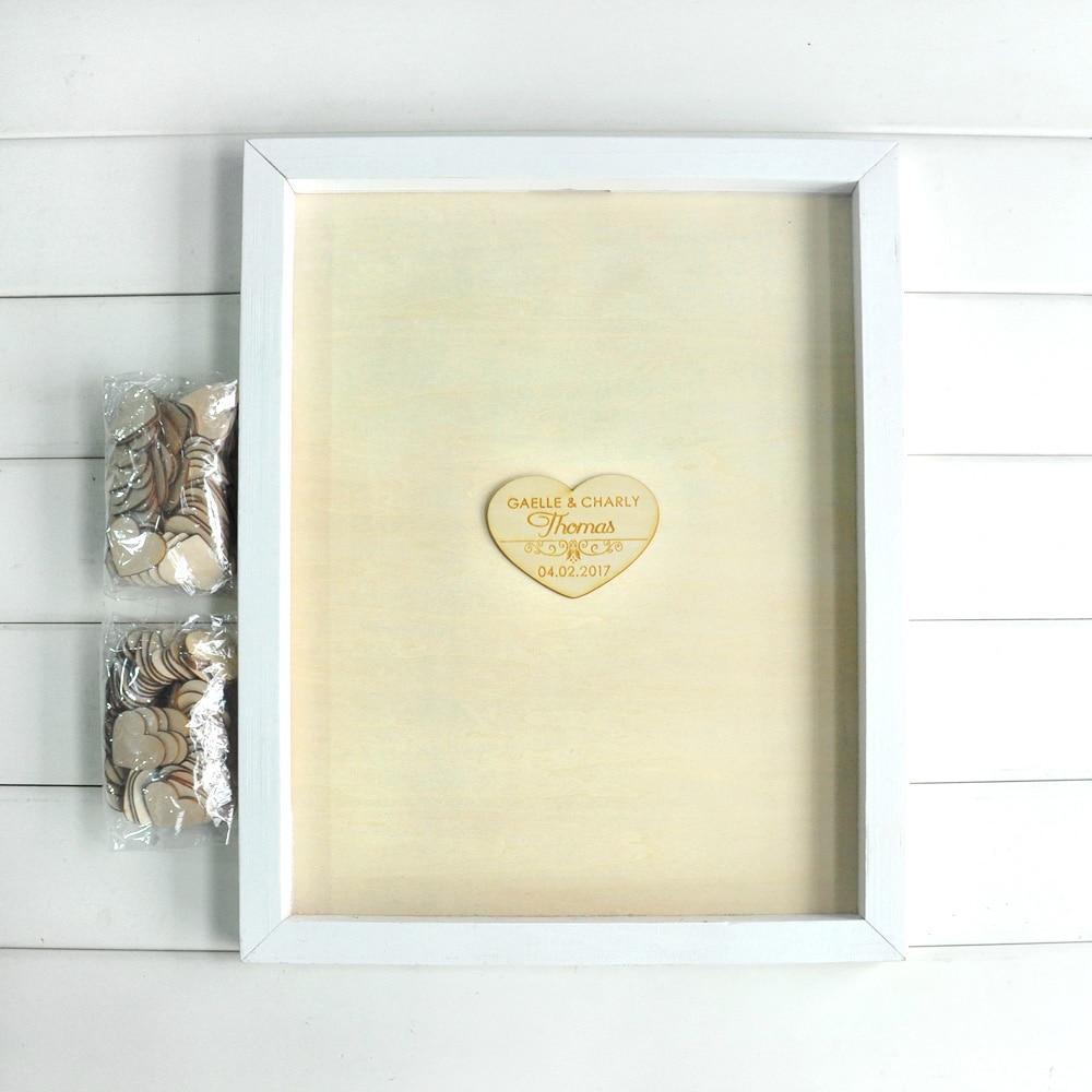 Custom Drop Top Guestbook White Frame Personalised Wedding guest ...