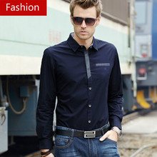 New 2016 Spring Autumn Cotton Dress Shirts High Quality Mens Formal Business Shirt,Cool Men Slim Fit Social Shirts