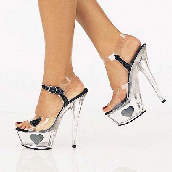 ФОТО New arrival sexy platform thin high heels sandals women shoes 15 cm heel pumps Peep Toe sandals