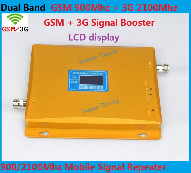 Newest GSM 2G 3G LCD Signal booster !!! Dual Band 65dBi 3G GSM Mobile Phone Signal Repeater GSM 3G Booster Amplifier Extender
