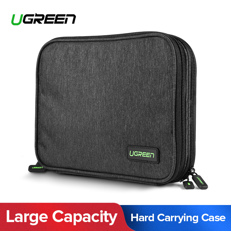 Ugreen gran capacidad Almacenamiento externo para Baterías portátiles cargador HDD SSD IPad mini Nintendo switch consola de bolsa de viaje caso de disco duro