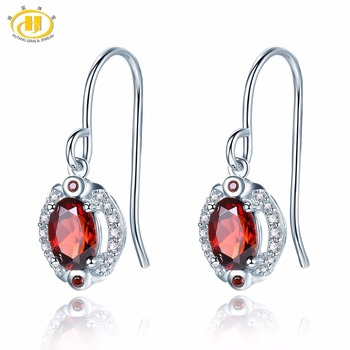 Hutang Stone Jewelry Natural Red Garnet and Similar Diamond Earrings Solid 925 Sterling Silver Fine Fashion.jpg 350x350 - Hutang Stone Jewelry Natural Red Garnet and Similar Diamond Earrings Solid 925 Sterling Silver Fine Fashion Gemstone Jewelry New