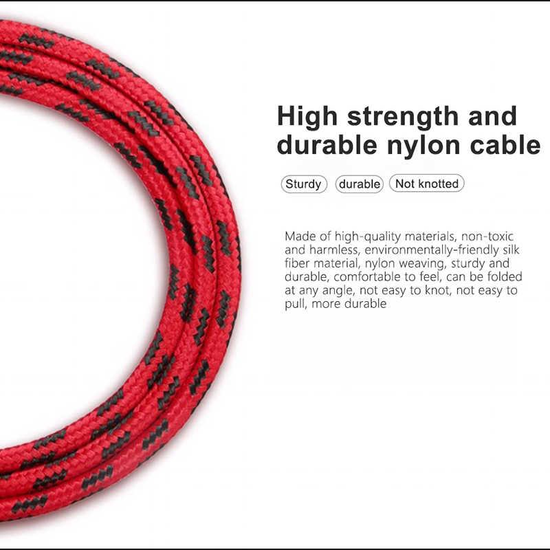 NOHON szybka ładowarka kabel danych dla Apple iPhone XR XS MAX 8 7 6S 5S Plus Ipad Mini IOS 10 11 12 do szybkiego ładowania telefonu synchronizacja kabli nylonowych