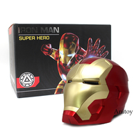 Iron Man Motorcycle Helmet Cosplay Mask for Adult Touch Sensing Mask with LED Light Super Hero Series Doll 1:1 High Quality
