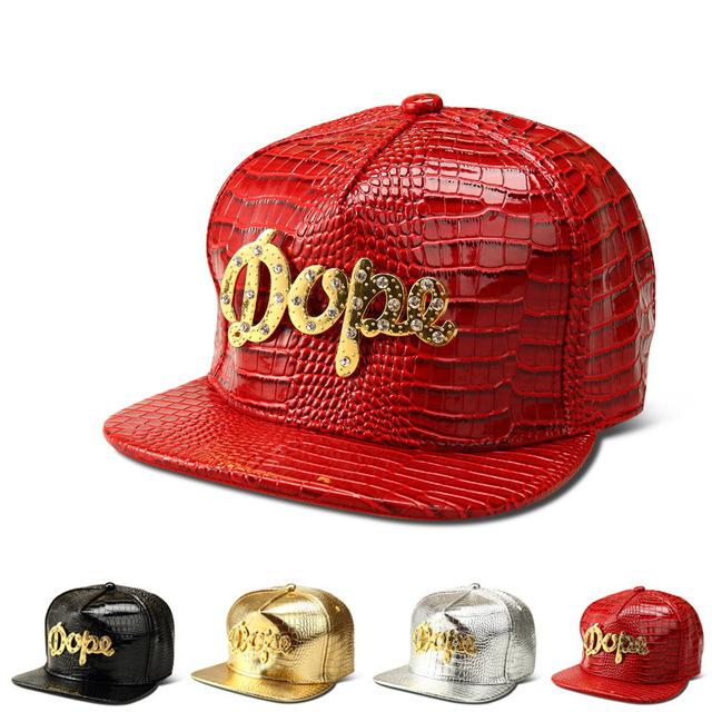 O novo Grão Crocodilo diamante boné de beisebol carta cap hip-hop chapéu de abas largas chapéus homens e mulheres maré