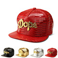 The new Crocodile Grain diamond letter baseball cap flat -brimmed hats hip-hop hat men and women tide