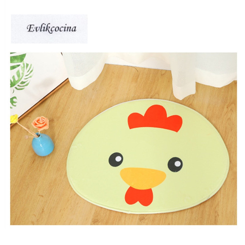 Free Shipping 50x60cm Cartoon Chicken Absorption Bath Mat Bathroom Carpet Floor Tapete Banheiro Carpet Non Slip Alfombra Bano