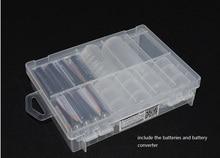 купить 10pcs/lot Plastic AA AAA 9V C D Battery Storage boxes Holder Hard Plastic Battery Case Organizer Protector with hook handle grip недорого