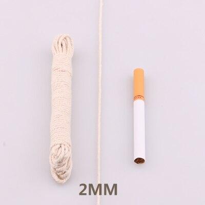 5yd/лот высокопрочный натуральный цвет 3ply круглый плоский канат хлопок шнуры для дома ручной работы аксессуары для одежды проекты рукоделия - Цвет: round  2mm