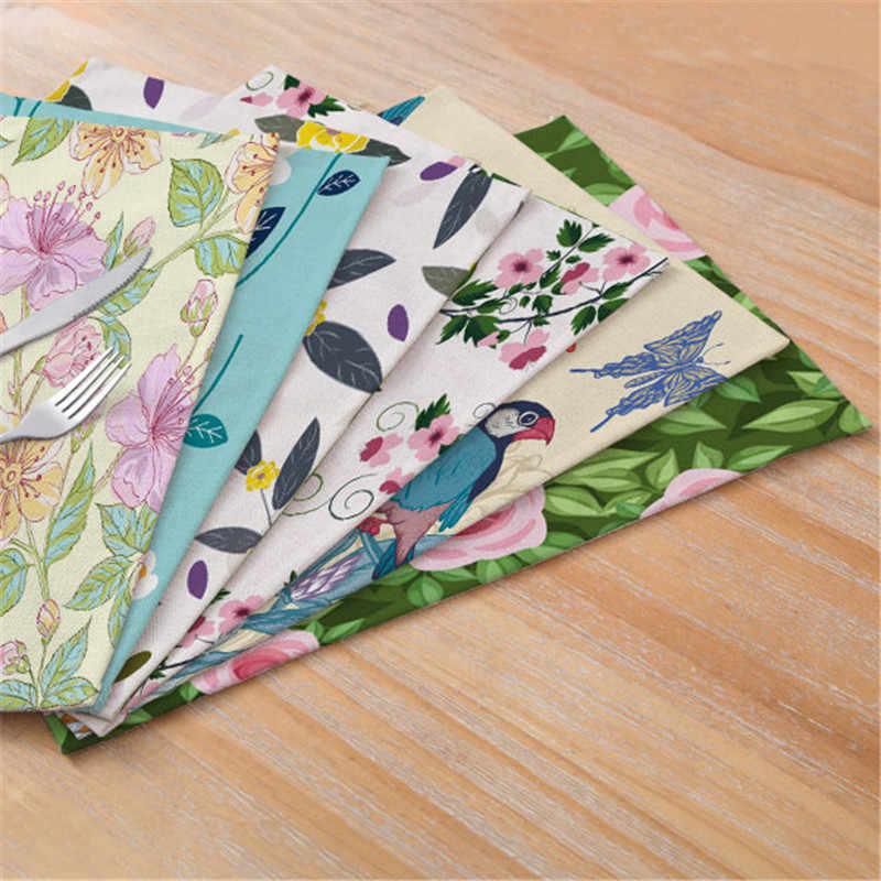 Лидер продаж, цветочный узор, коврик для стола, столовый коврик, красочные чайные кофейные салфетки, кухня, гостиная, декор для ресторана коврики