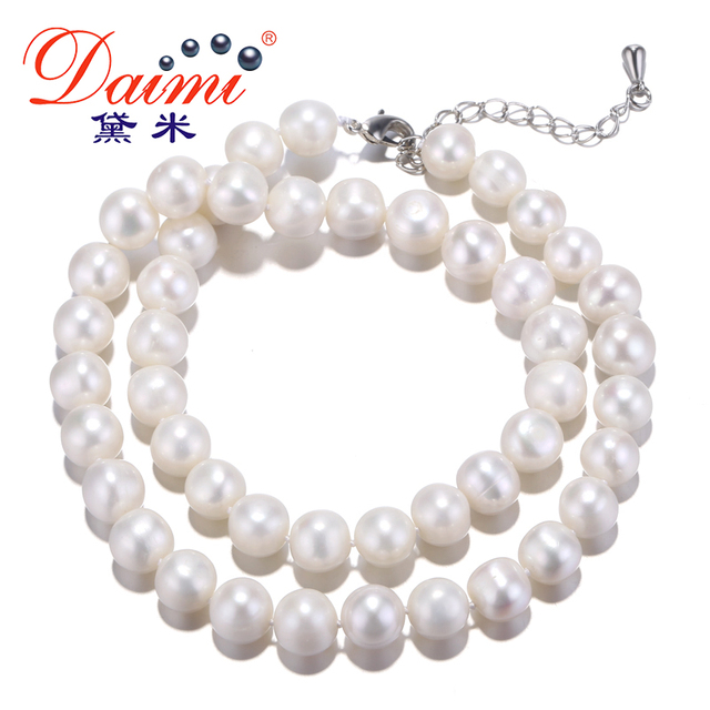 567436043 [DAIMI] Pearl Necklace 10-11mm Natural Freshwater Pearl Necklace Quite  Popular Good cost performance Choker