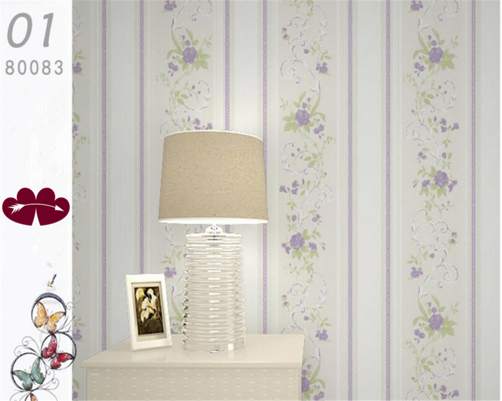 beibehang Pastoral non - woven wallpaper background warm and simple vertical striped wall paper papel de parede 3d wallpaper beibehang blue wallpaper non woven