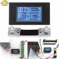 100A DC Digital Multifunction Power Meter Energy Monitor Module Voltmeter Ammeter with Shunt